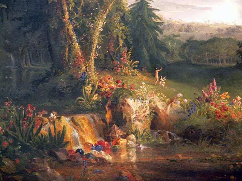 adan y eva-Thomas Cole, The garden of Eden