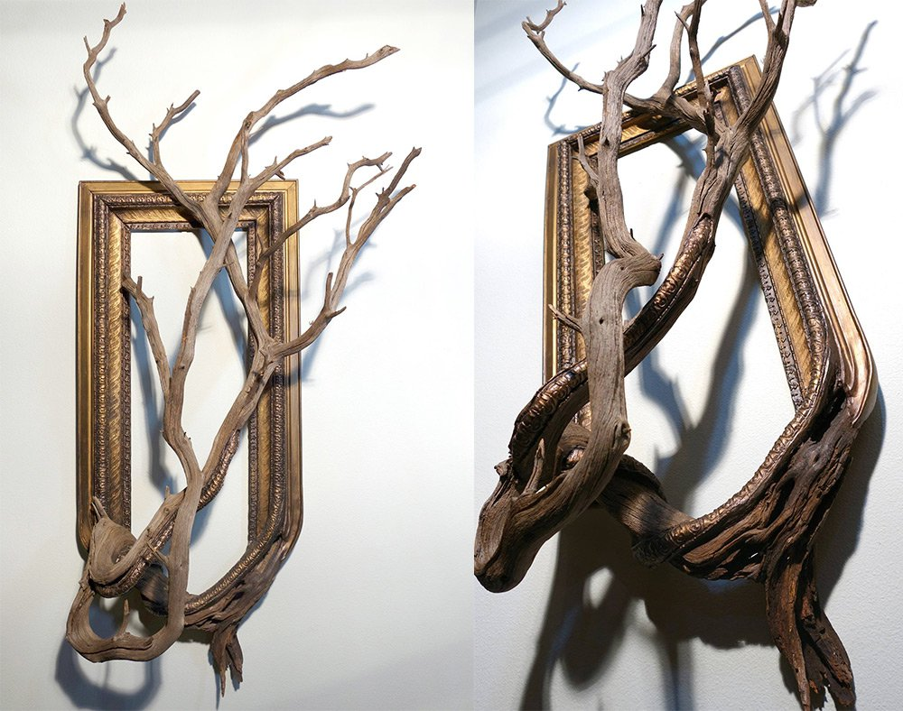 Darryl Cox tree branch frame art3
