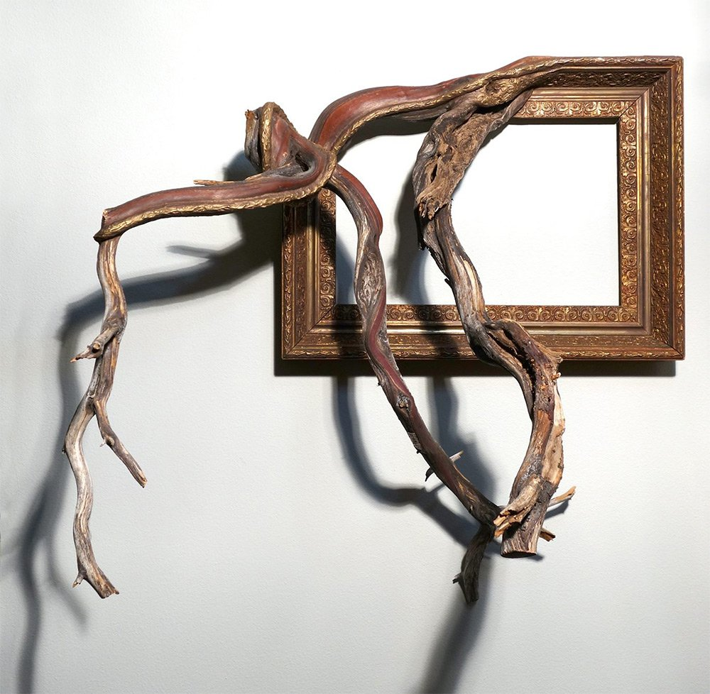 Darryl Cox tree branch frame art4