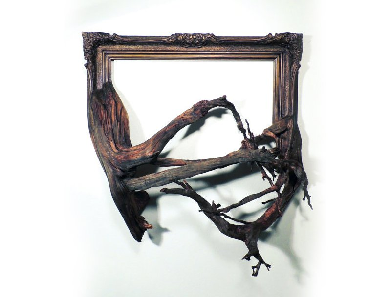 Darryl Cox tree branch frame art17