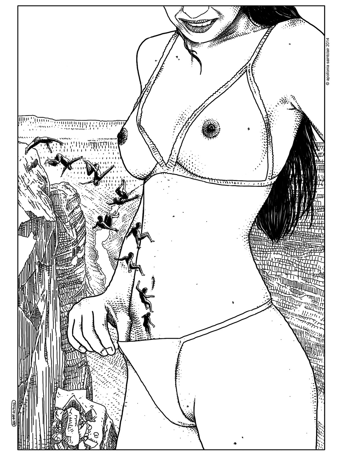 Apollonia Saintclair arte provocativo erotico 22