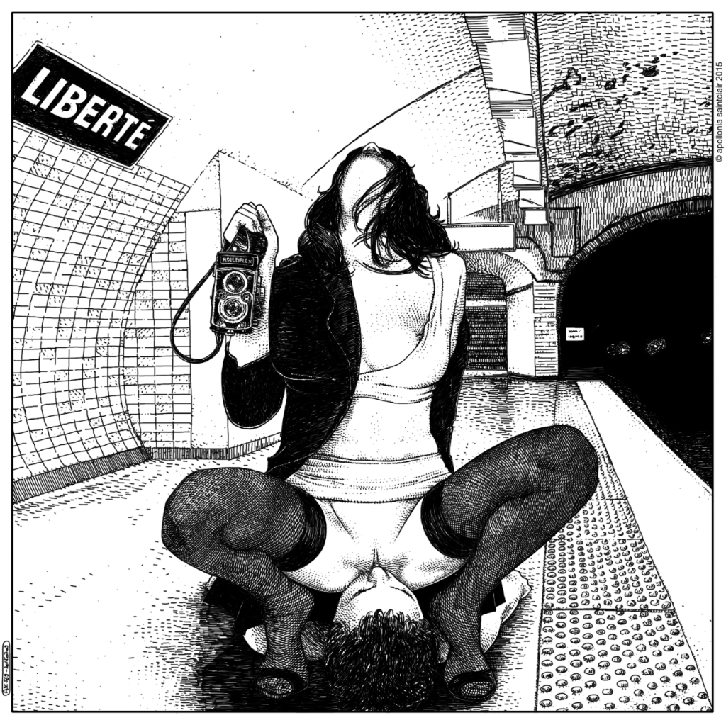 Apollonia Saintclair arte provocativo erotico 2